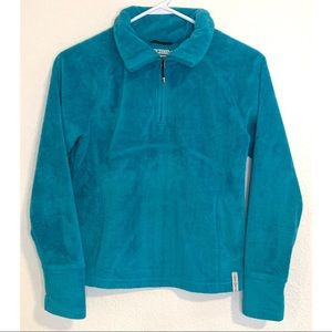 Obermeyer blue fleece sweater junior size large